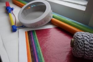 Bastelmaterial für selbstgebastelte Laternen